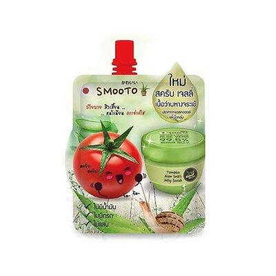 Скраб-желе Smooto tomato aloe snail jelly