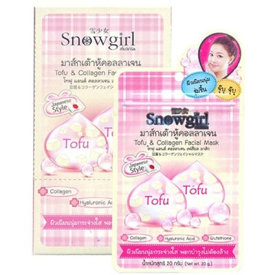 Ночная маска с тофу и коллагеном Snowgirl