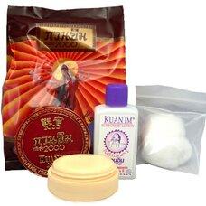 Отбеливающий жемчужный набор:крем и лосьон Kuan Im
